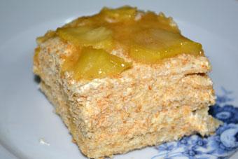 торт из слоеных коржей готовых рецепт с фото